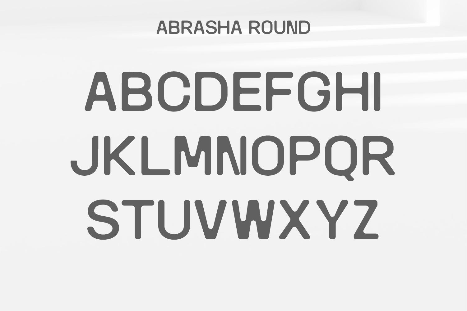 Abrasha Sans Serif Font Family example image 7