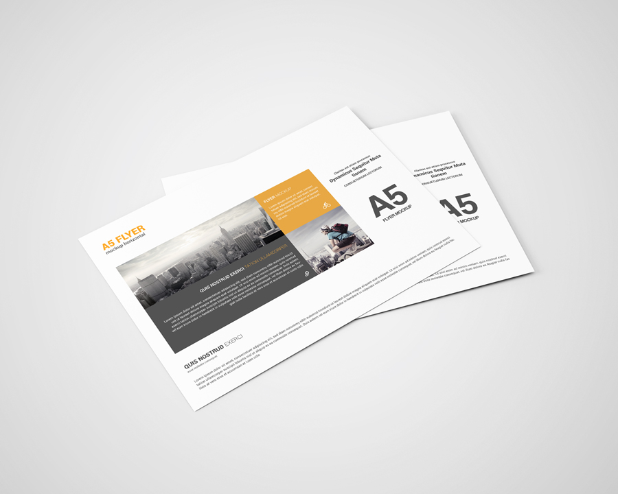 a5 landscape flyer mockup by toasin stu design bundles