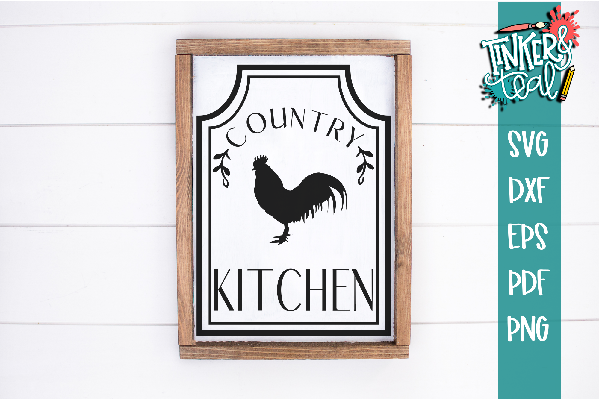 Rooster Farmhouse Country Kitchen SVG example image 1