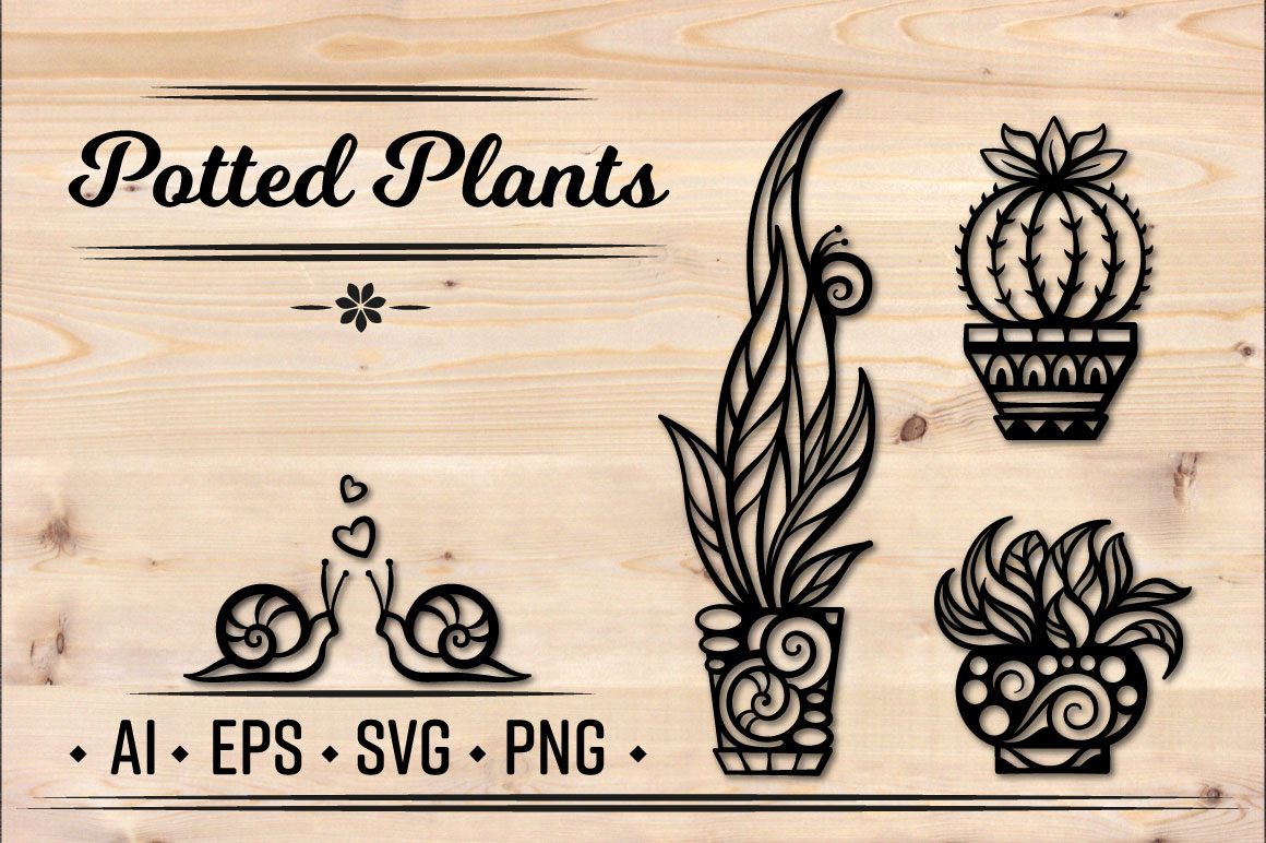 Potted plants set example image 1
