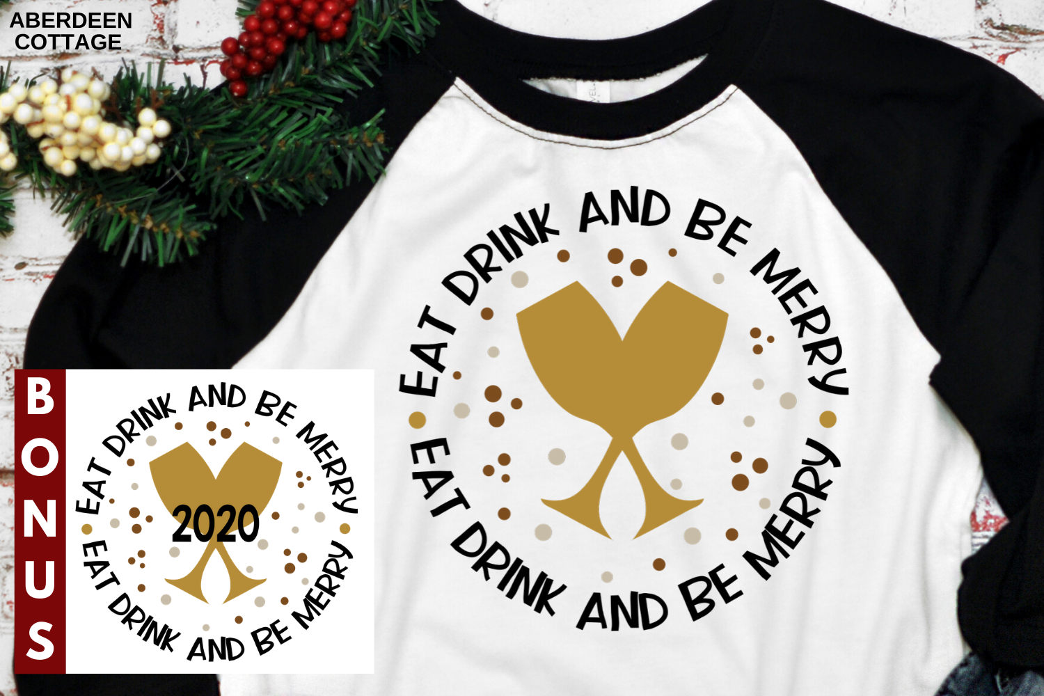 Eat Drink and Be Merry - New Years Eve Day - New Year 2020 example image 1