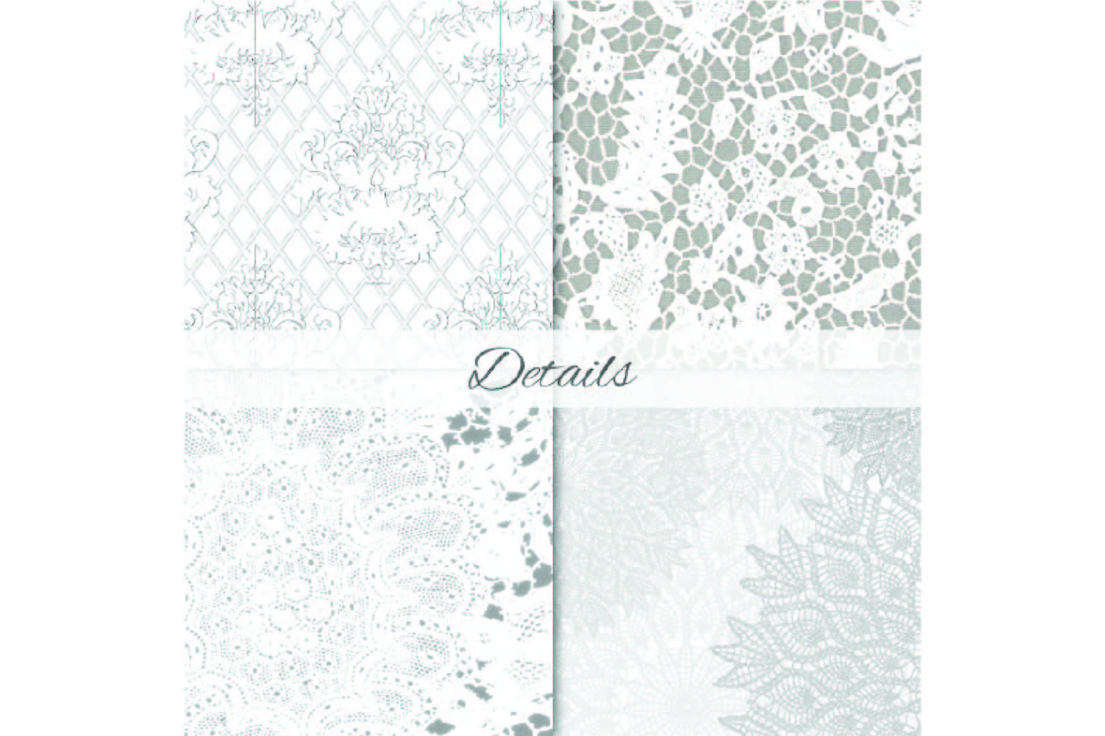 White Lace Digital Paper - Wedding Backgrounds example image 4