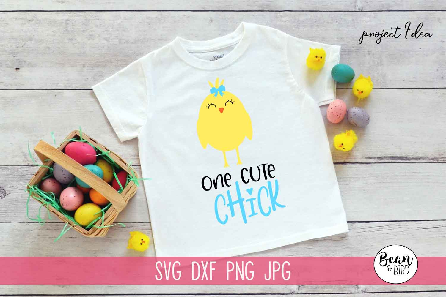 One Cute Chick Easter Spring SVG example image 1