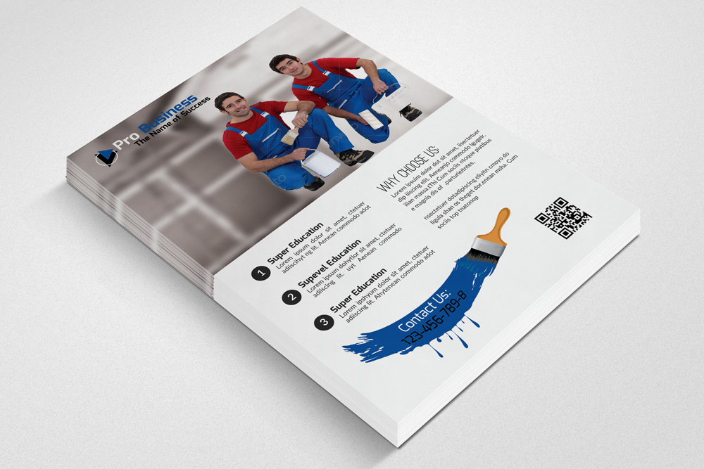 House Paint Conductor Flyer Template example image 2