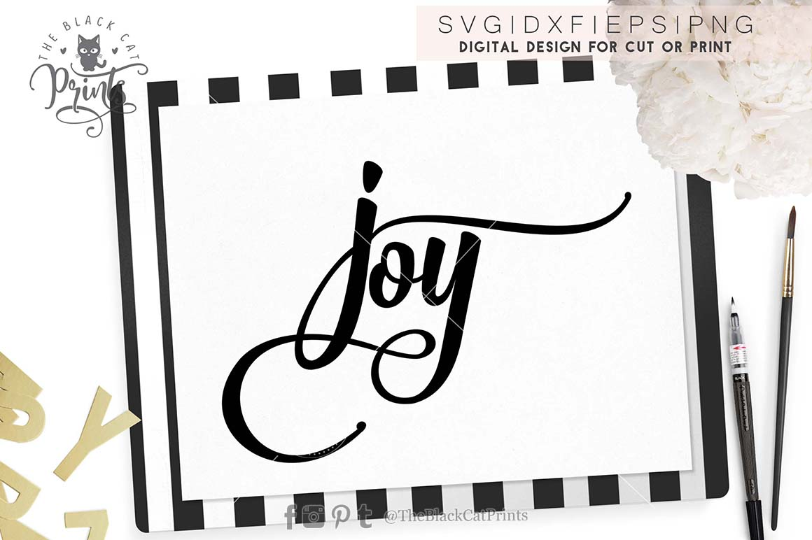 Joy SVG PNG EPS DXF example image 5