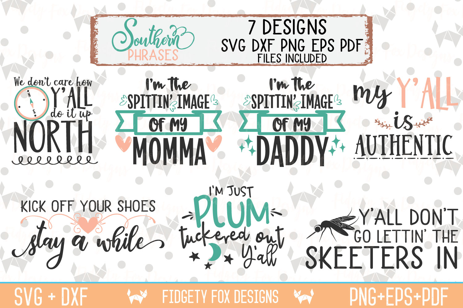 Southern Phrases Svg Bundle DXF PNG EPS PDF Rustic Design example image 1