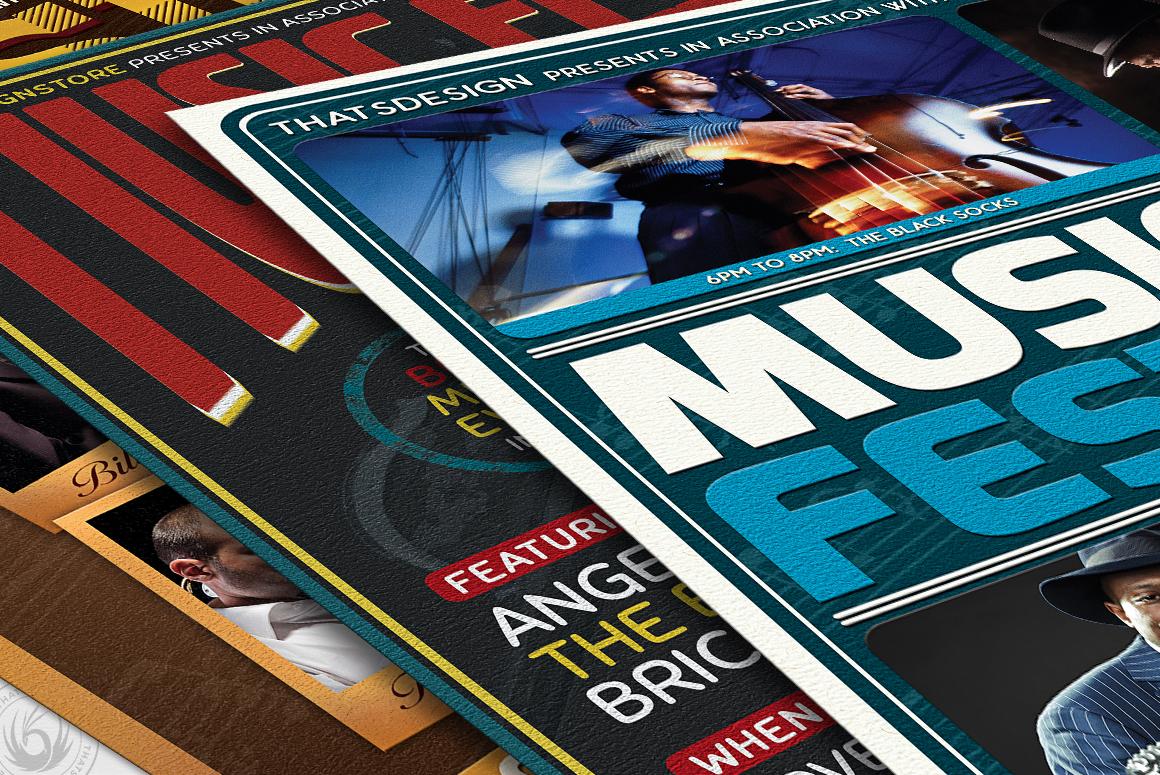 Concert Live Flyer Bundle V5 example image 6