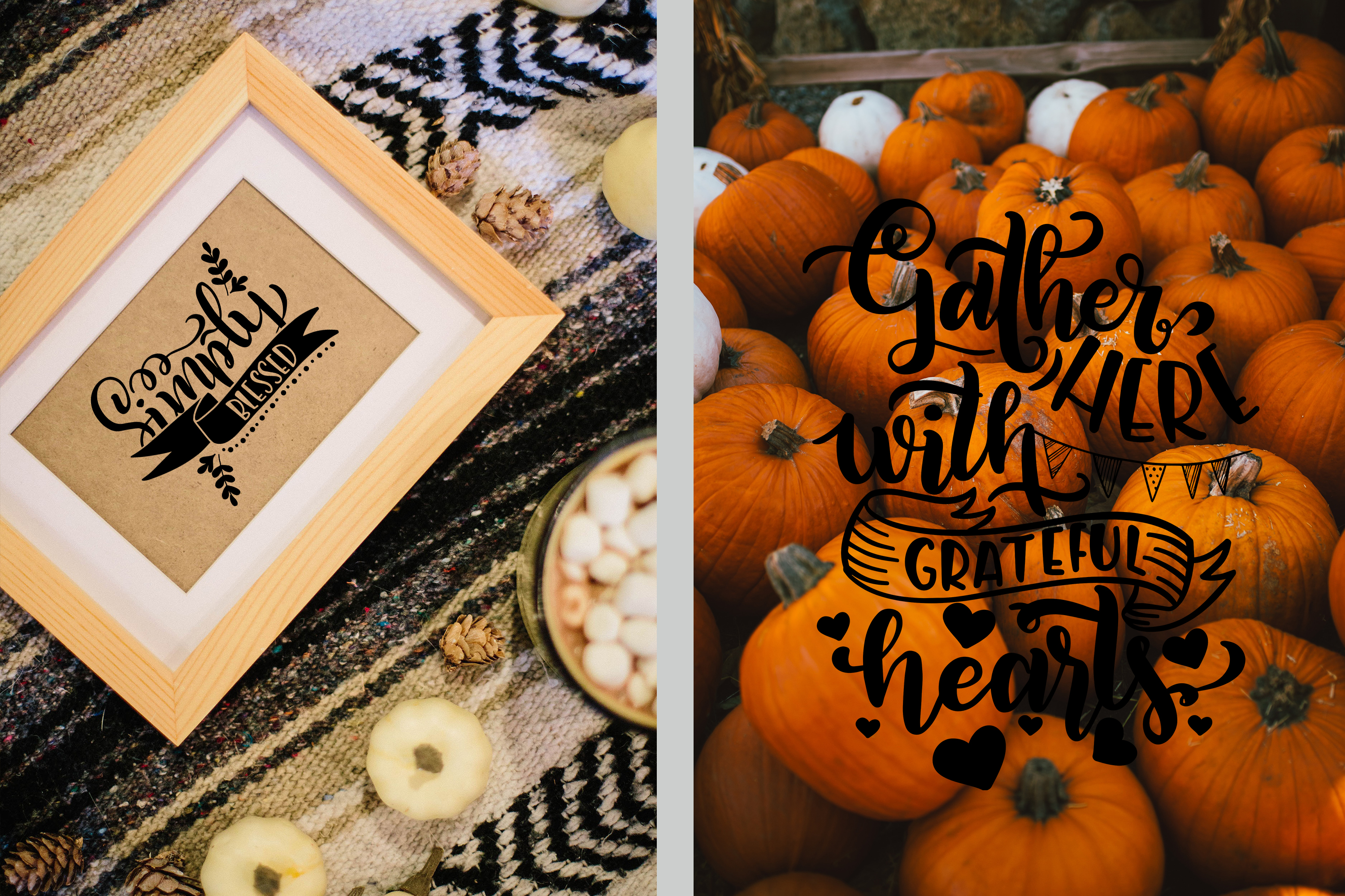 Fall svg BUNDLE BIG set of 80 quotes Autumn Thanksgiving example image 8