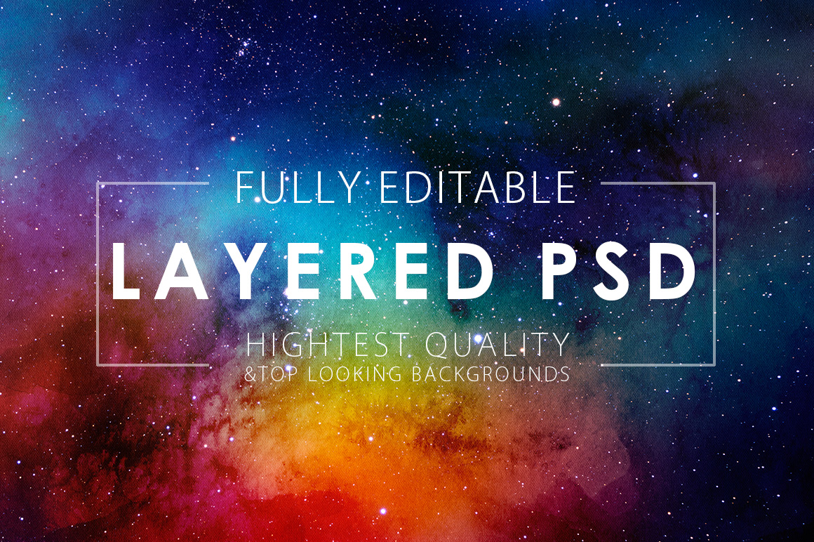 Only Watercolor Backgrounds Bundle example image 22