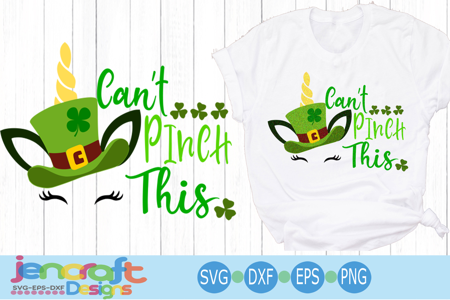 St. Patrick's day SVG, Unicorn SVG, Can't Pinch This svg example image 1