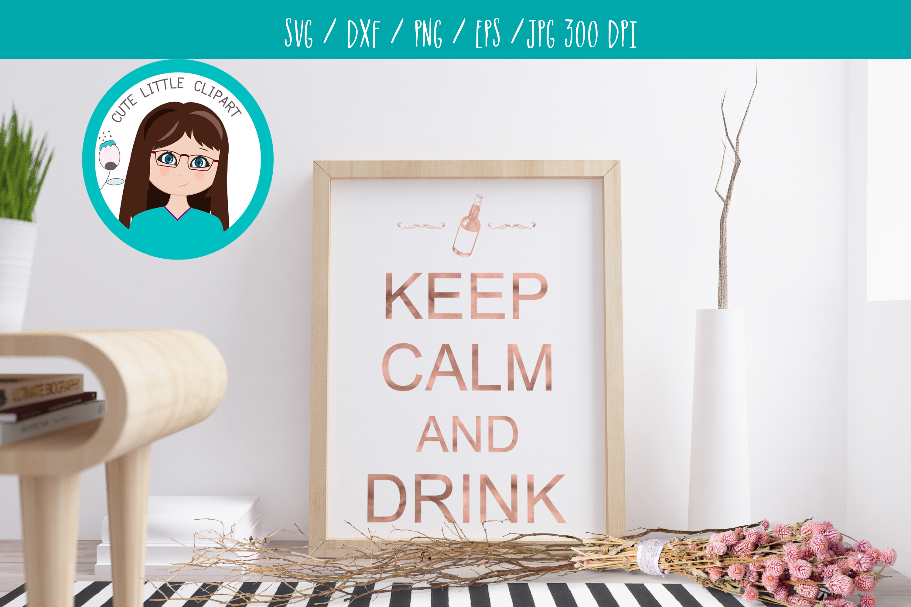 Keep Calm and drink svg example image 4