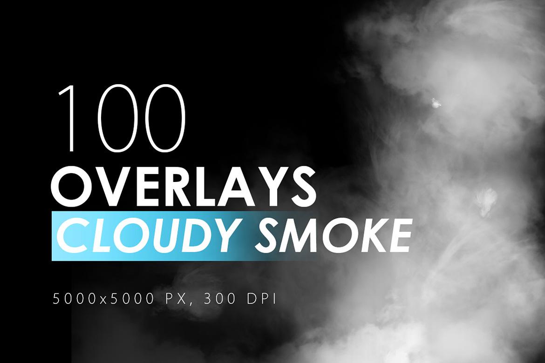 100 Cloudy Smoke Overlays example image 1