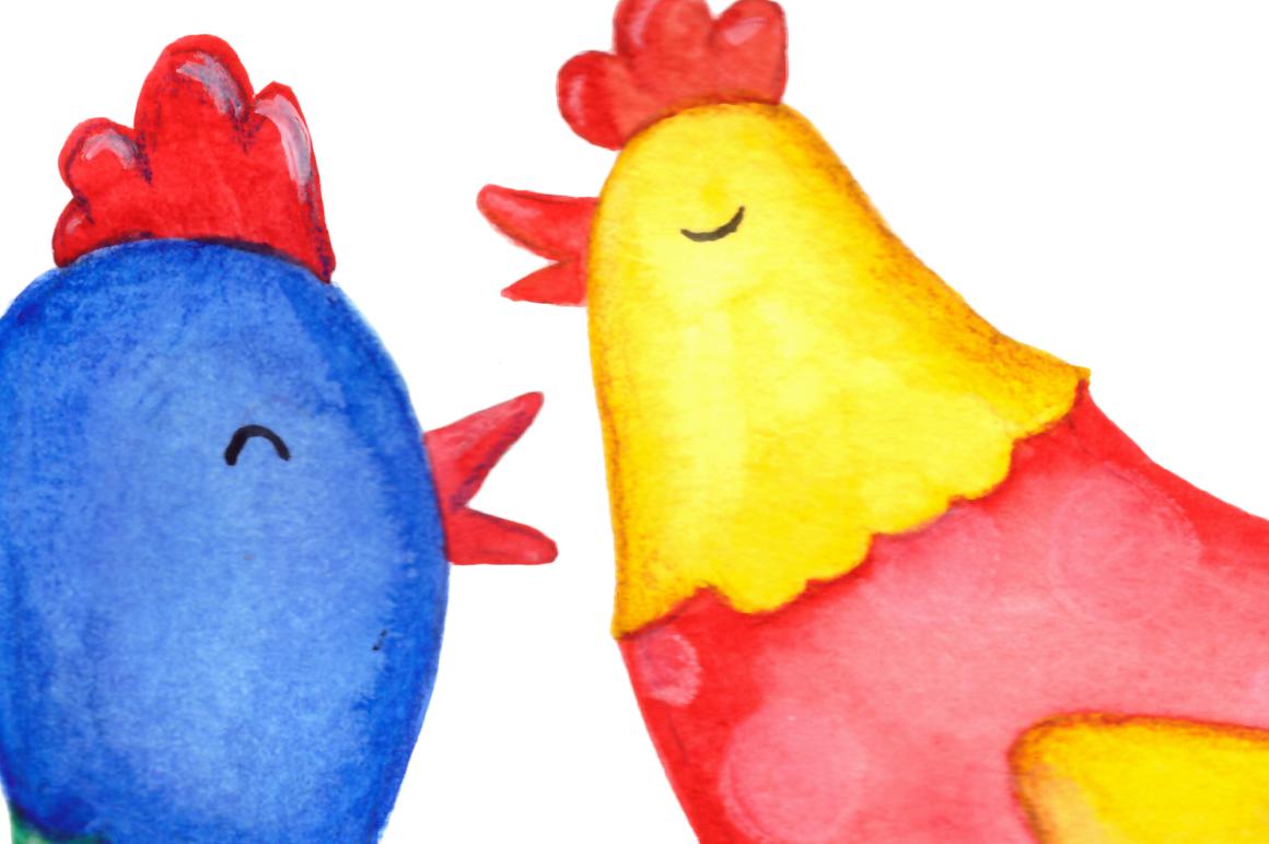 Watercolor Bright Chicks Clip Art  example image 3