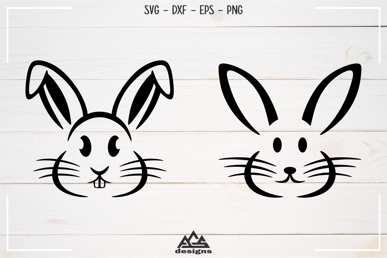 Rabbit Easter Bunny Svg Design example image 2