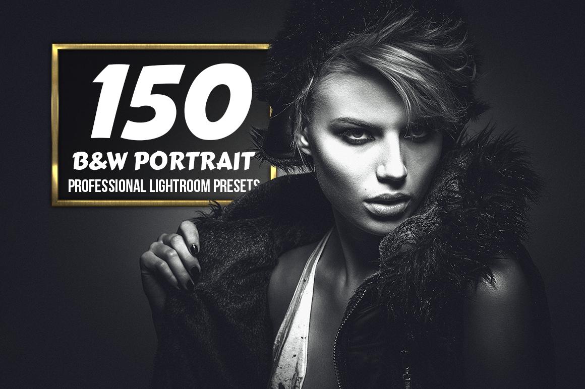 B&W Portrait - 150 Lightroom Presets example image 1