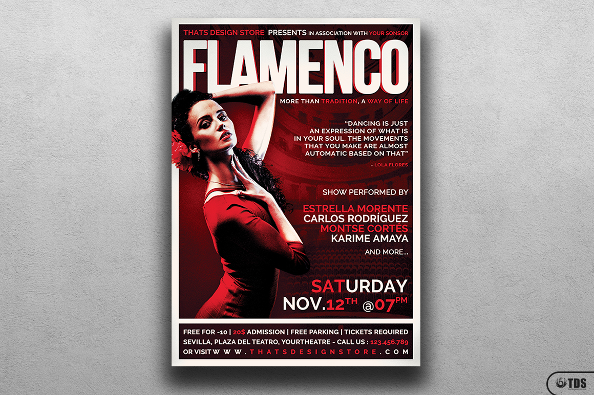 Flamenco Flyer Template V1 example image 1