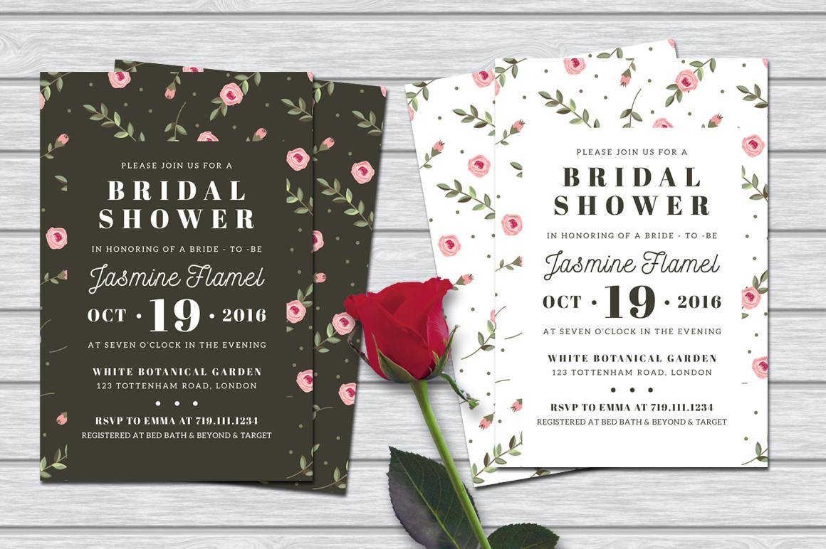 Floral Bridal Shower Invitation example image 1