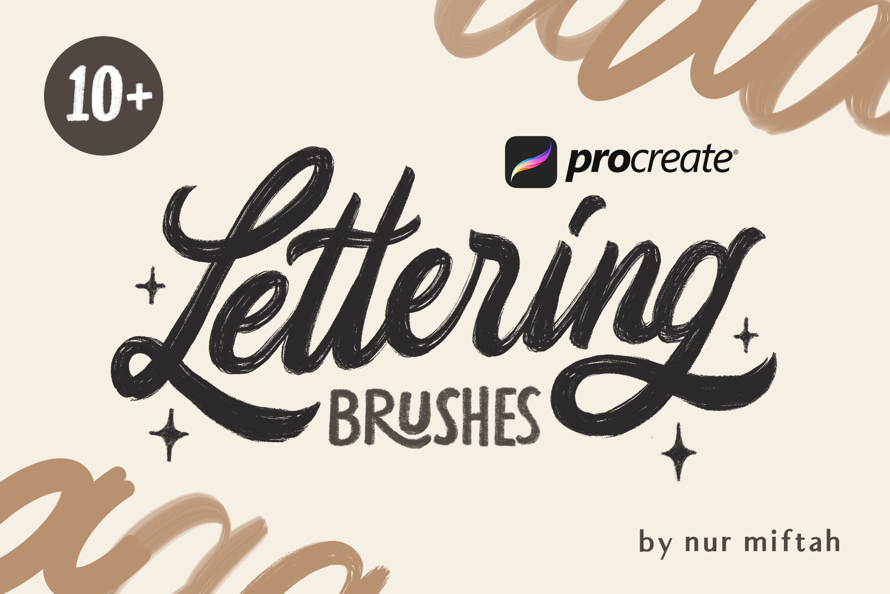 Procreate Lettering Brushes example image 1