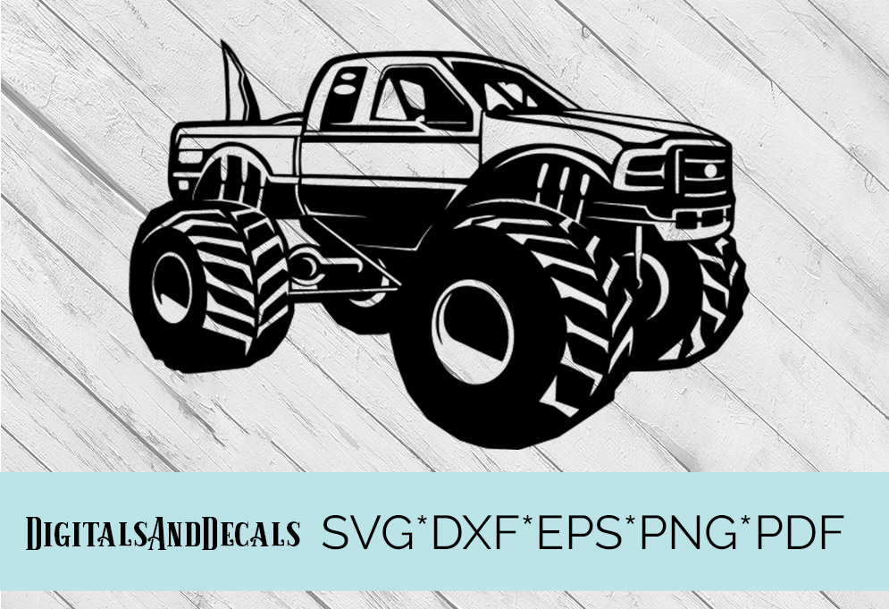 Big Foot Monster Truck  SVG Cutting File  example image 1