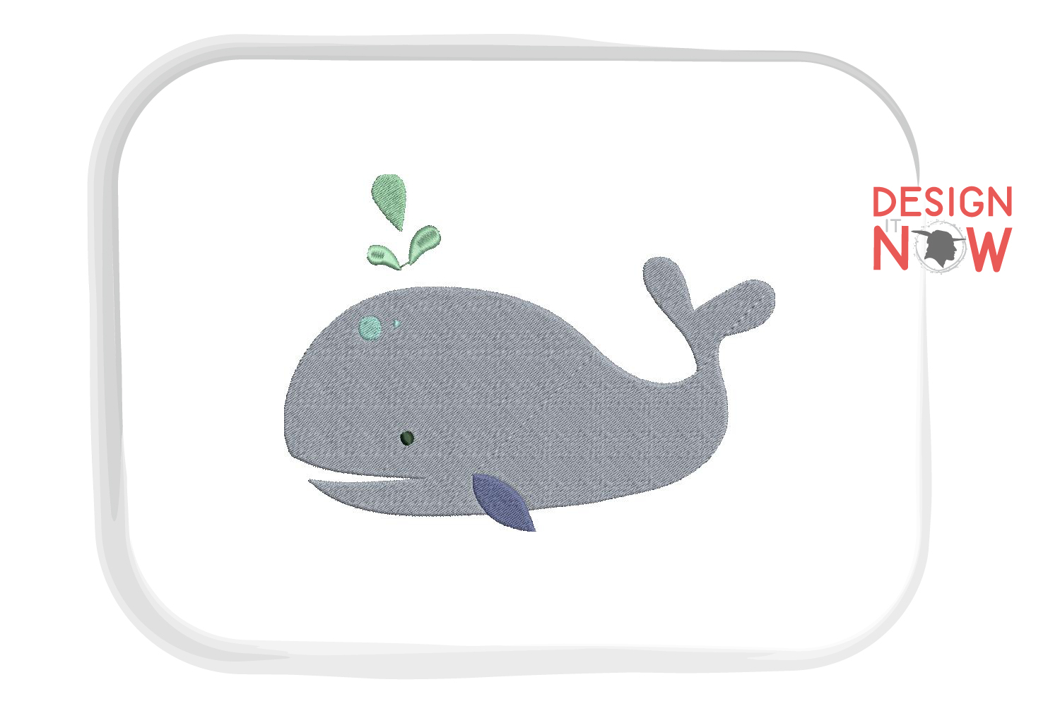 Whale Embroidery Design, Fish Embroidery Design, Sea example image 4