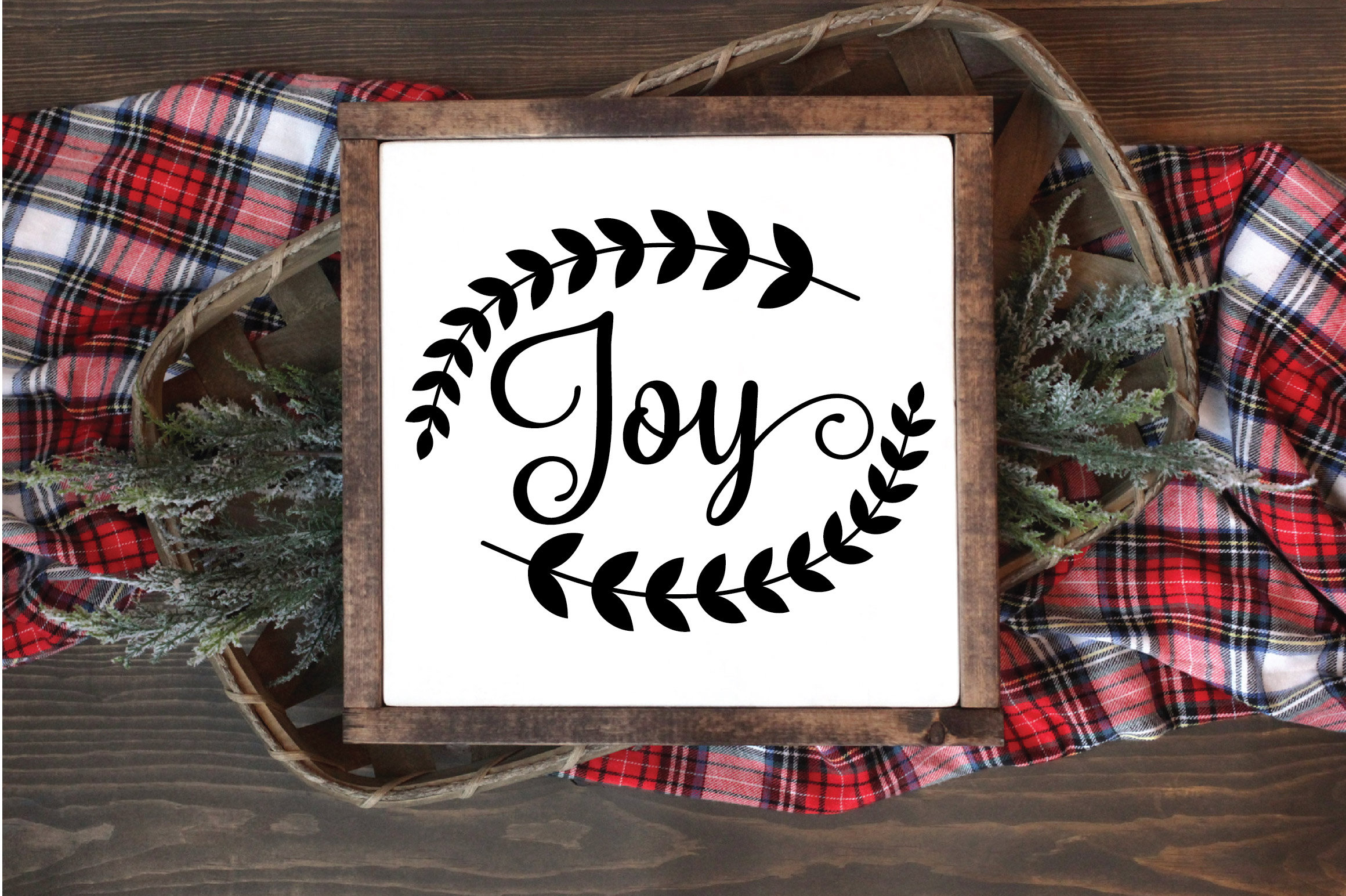 Christmas SVG Cut File - Joy SVG DXF PNG EPS JPG example image 4