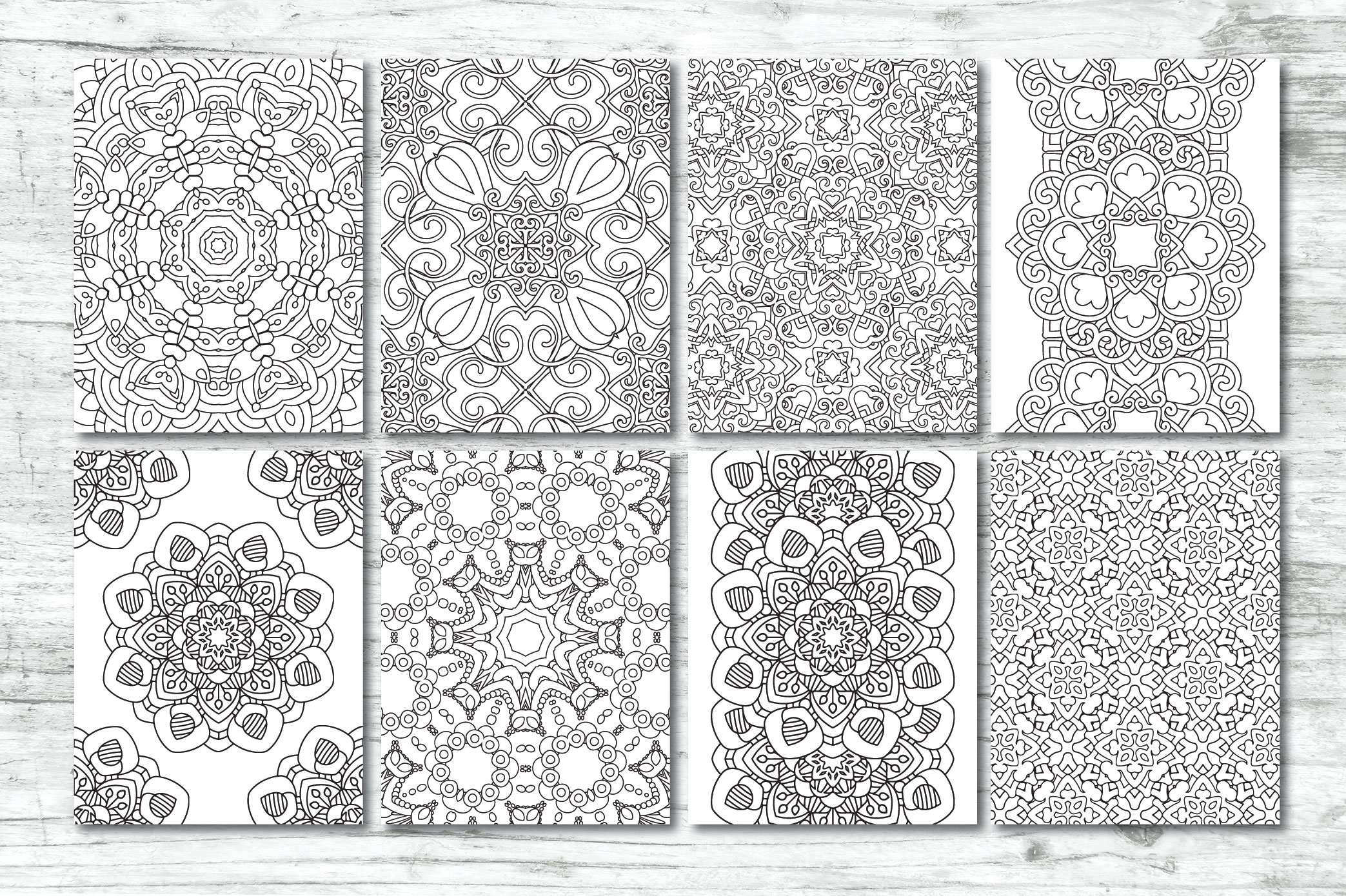 50 Geometric Coloring Pages example image 3