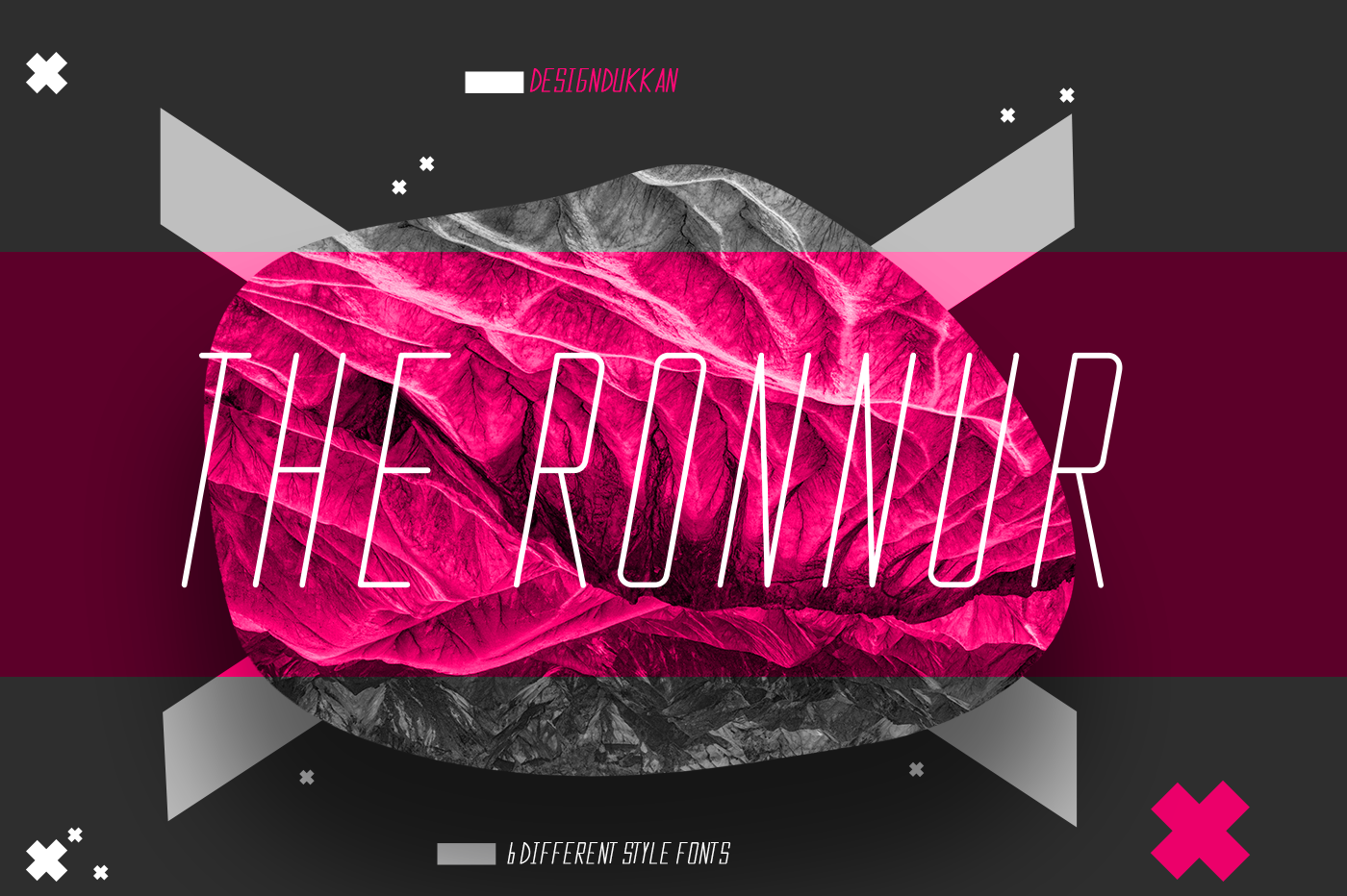 The Ronnur Font Family example image 3