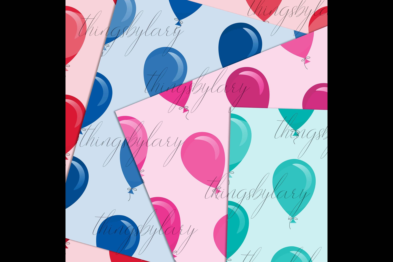 100 Seamless Balloon Pattern Kid Birthday Digital Papers example image 6