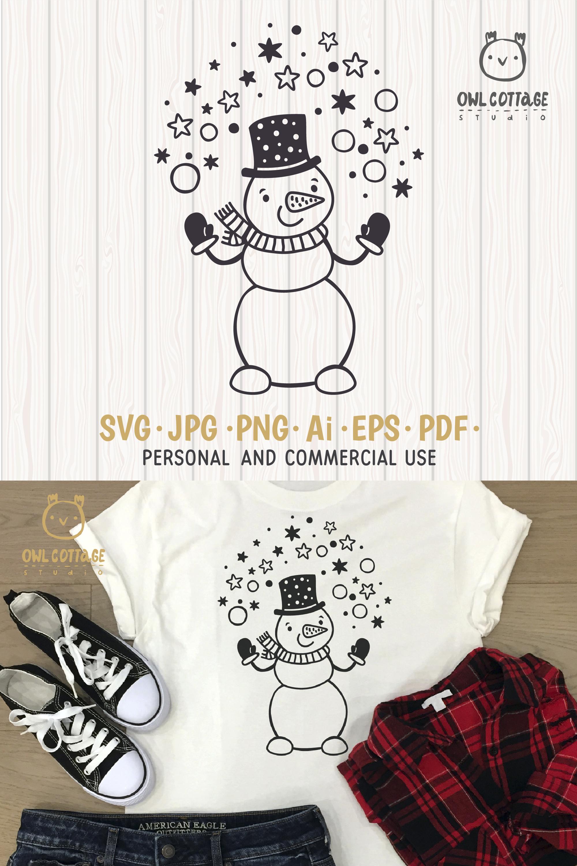 Let it Snow SVG Snowman, Snowman SVG, Christmas SVG example image 10