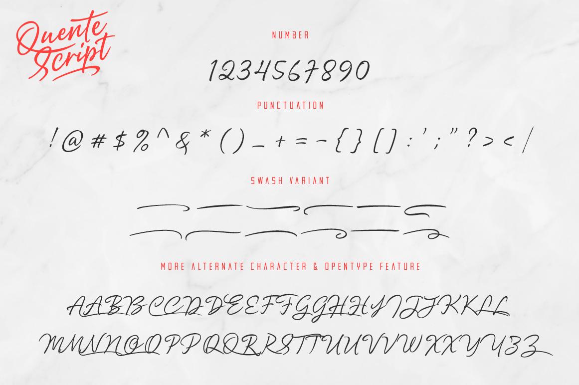 Quente Script & Tamigos example image 13