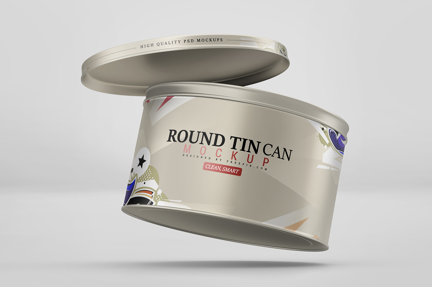 Round Tin Can Mockup example image 5