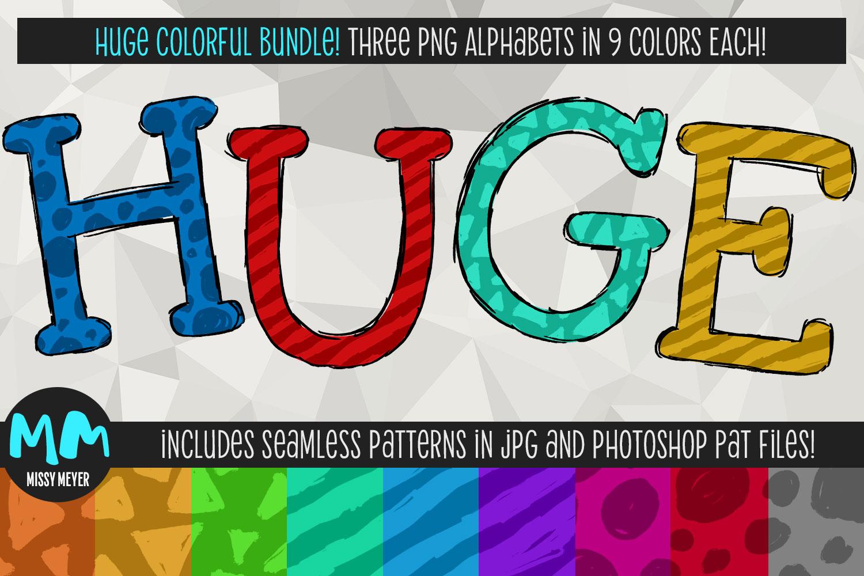 Huge bundle of color PNG alphabets for sublimation & print!