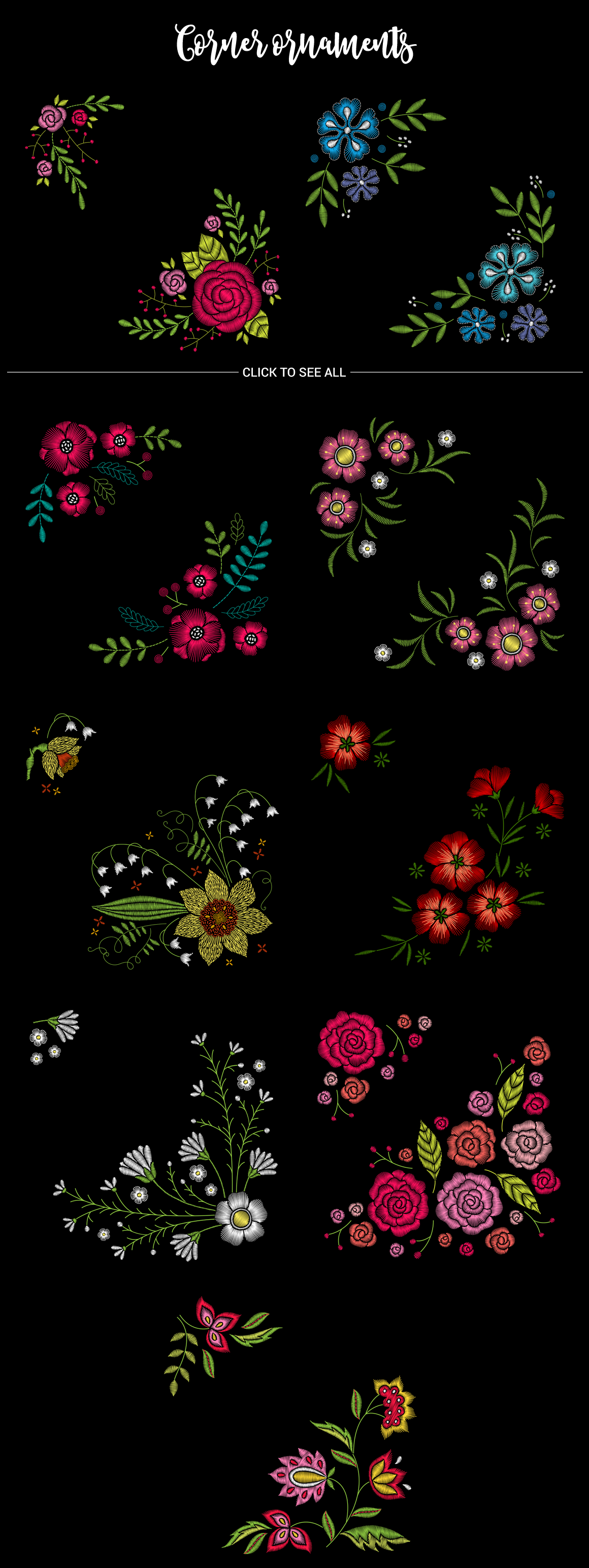 Huge Embroidery Bundle example image 2