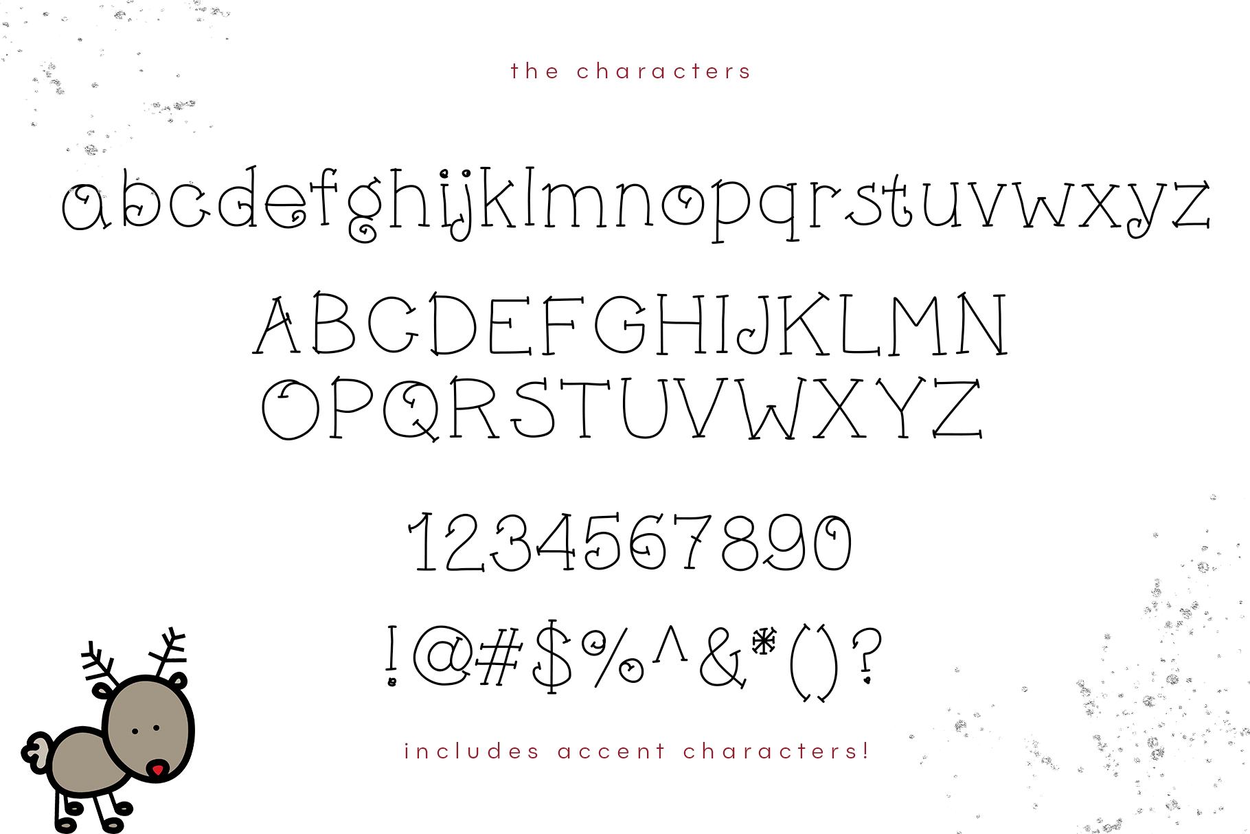Little Reindeer - A Cute Handwritten Font example image 6