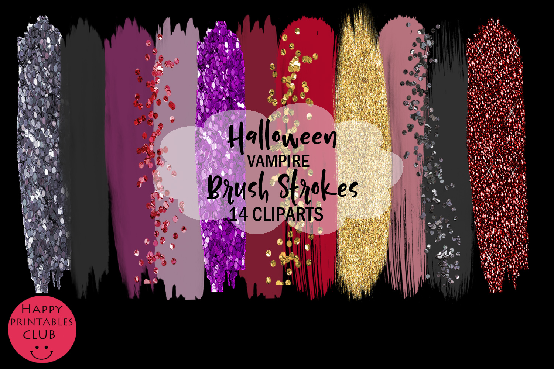 Halloween Vampire Brush Strokes Clipart- Brush Strokes example image 2