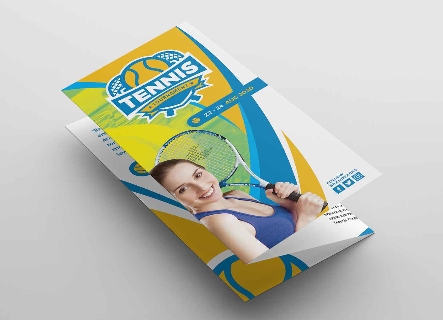 Tennis Tri-Fold Brochure Template example image 3