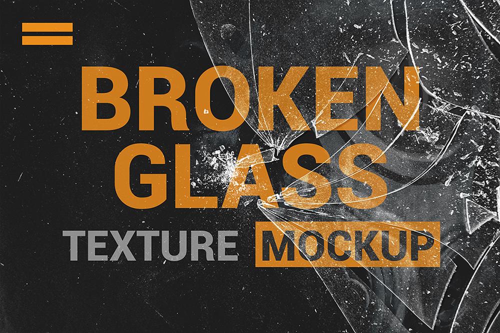 Broken Glass Texture Mockup example image 3