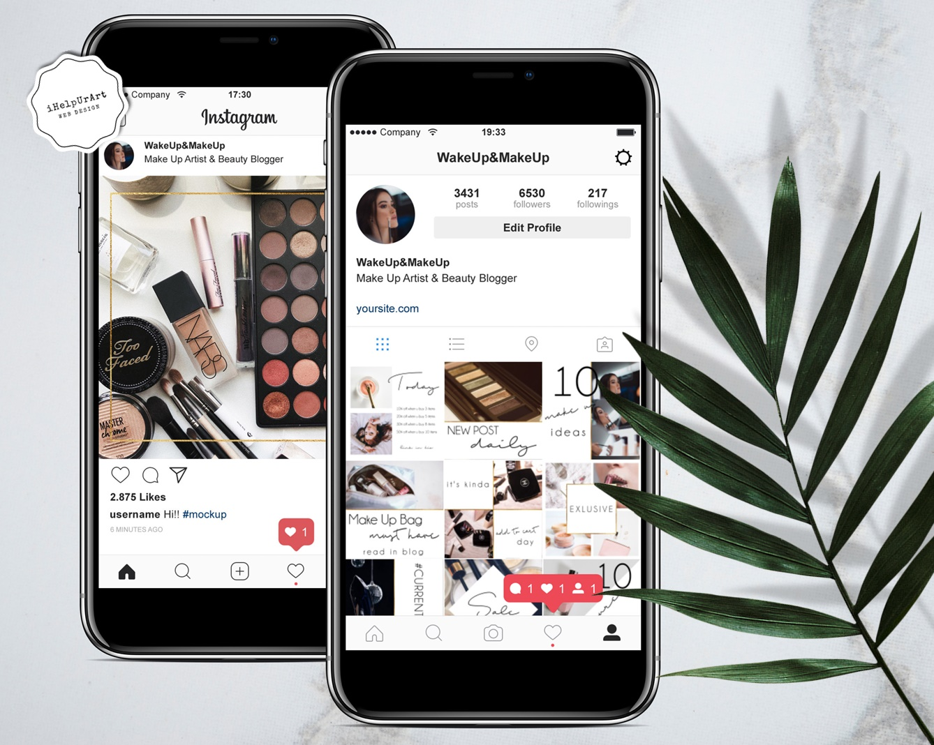 Beauty Blogger Instagram Posts Templates example image 3