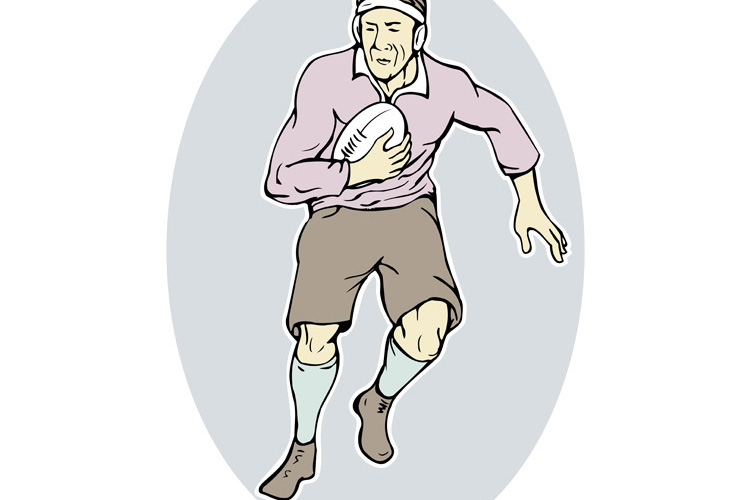 rugby player running with ball example image 1