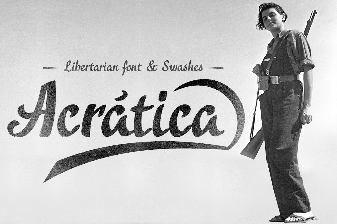 Acrática font example image 1