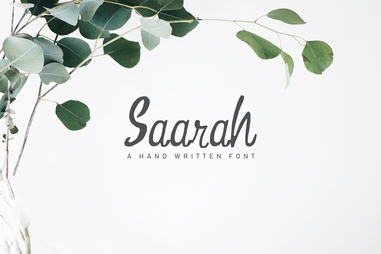 Saarah Fresh Handmade Font example image 1