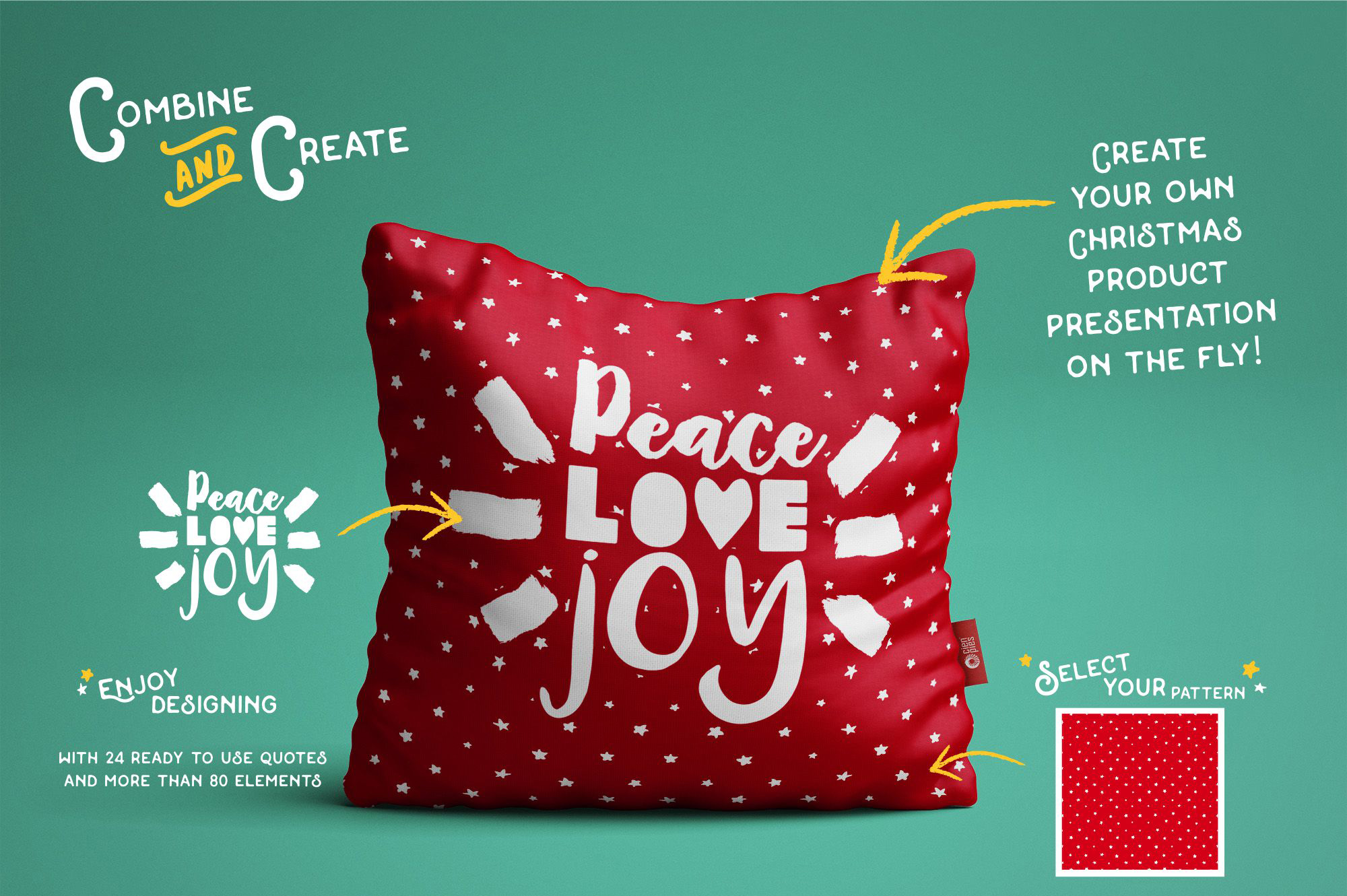 INTRO SALE 95% OFF! NEW Christmas quotes pack example image 4