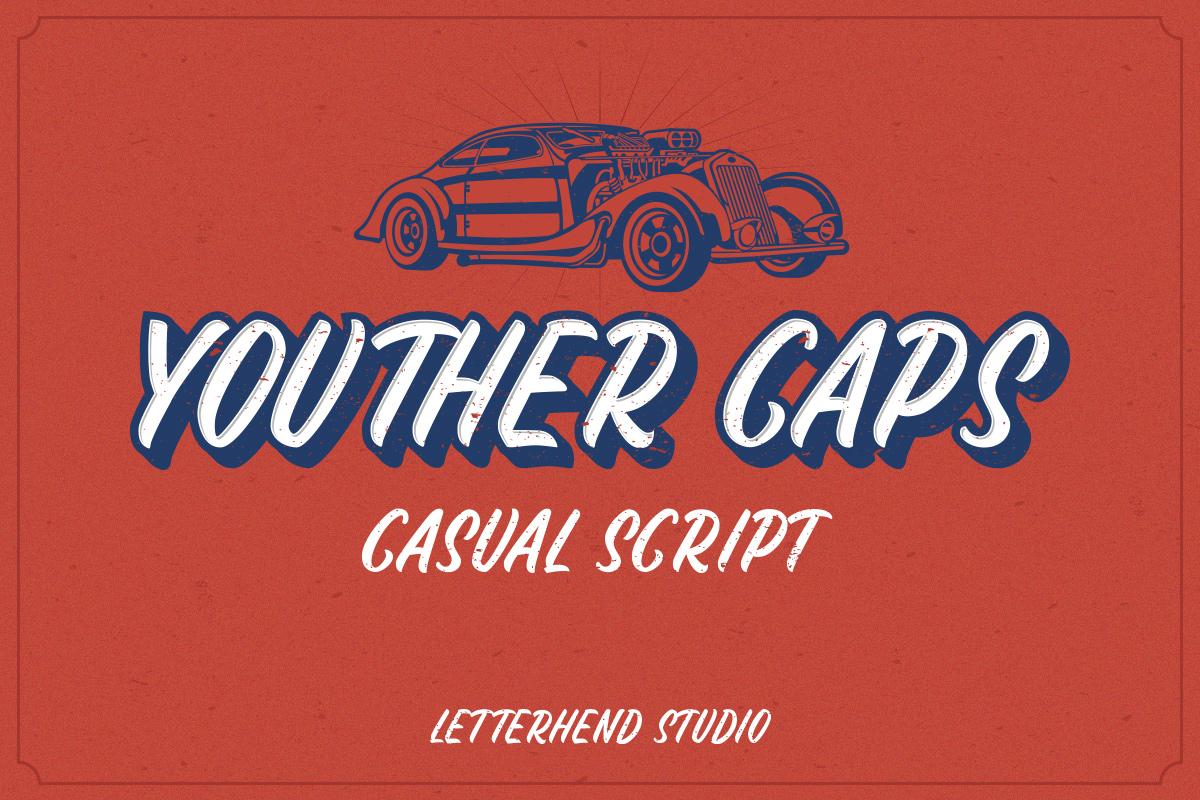 Youther Script - Layered Font Duo example image 7