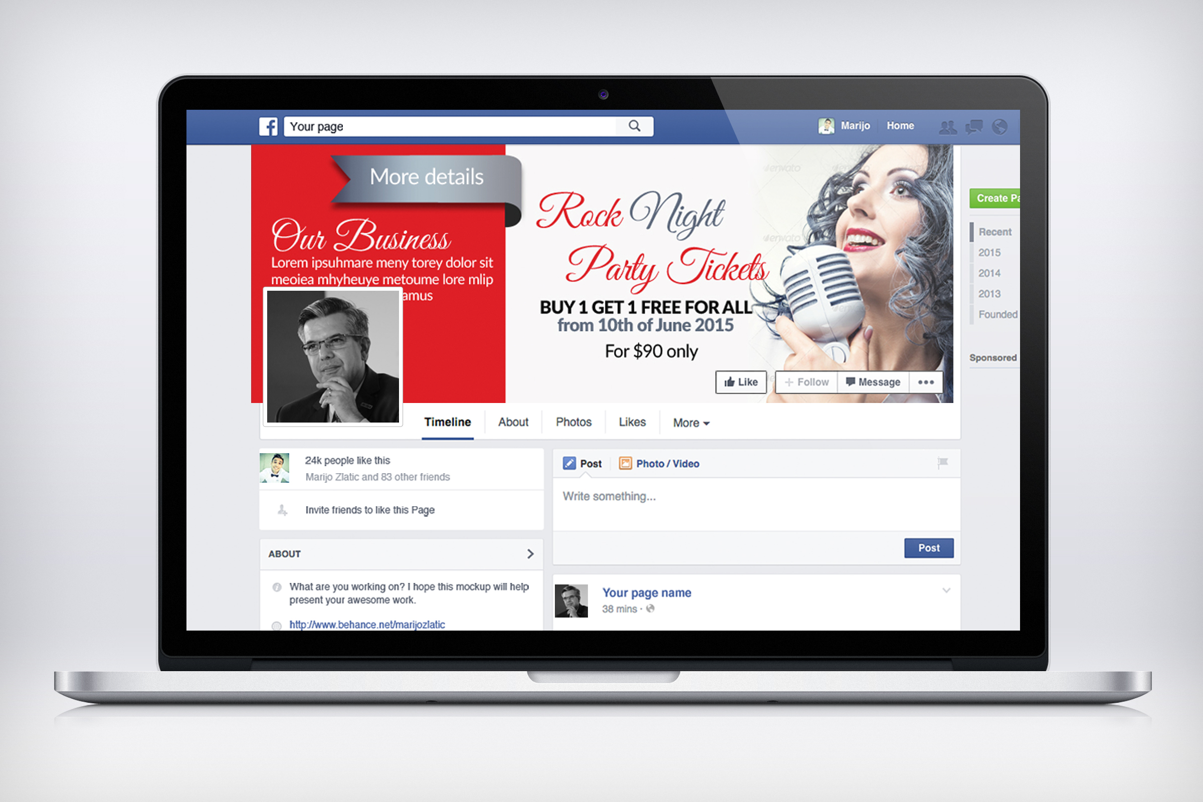 Music Concert Facebook Timeline Cover example image 2