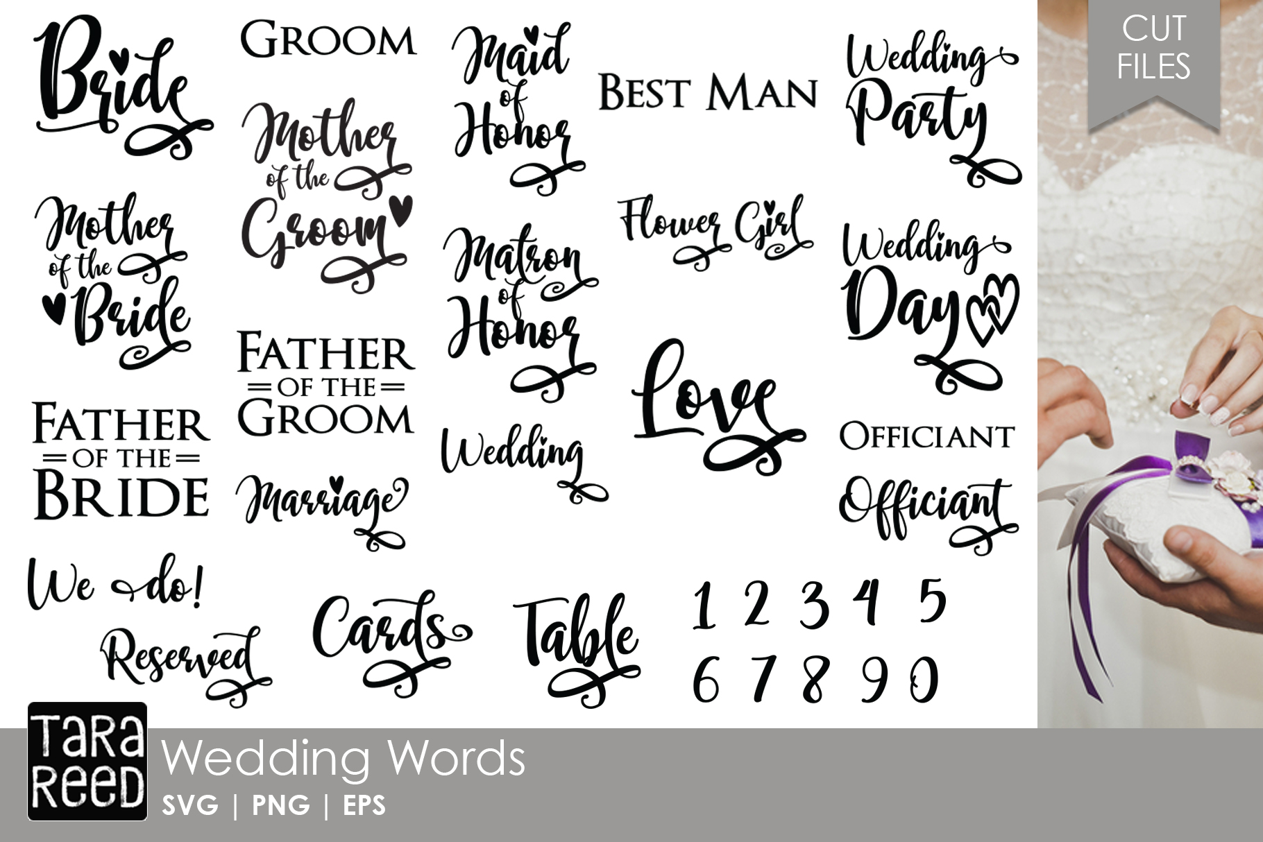 Here Comes the Bride MEGA Bundle - Wedding SVG and Cut Files example image 4