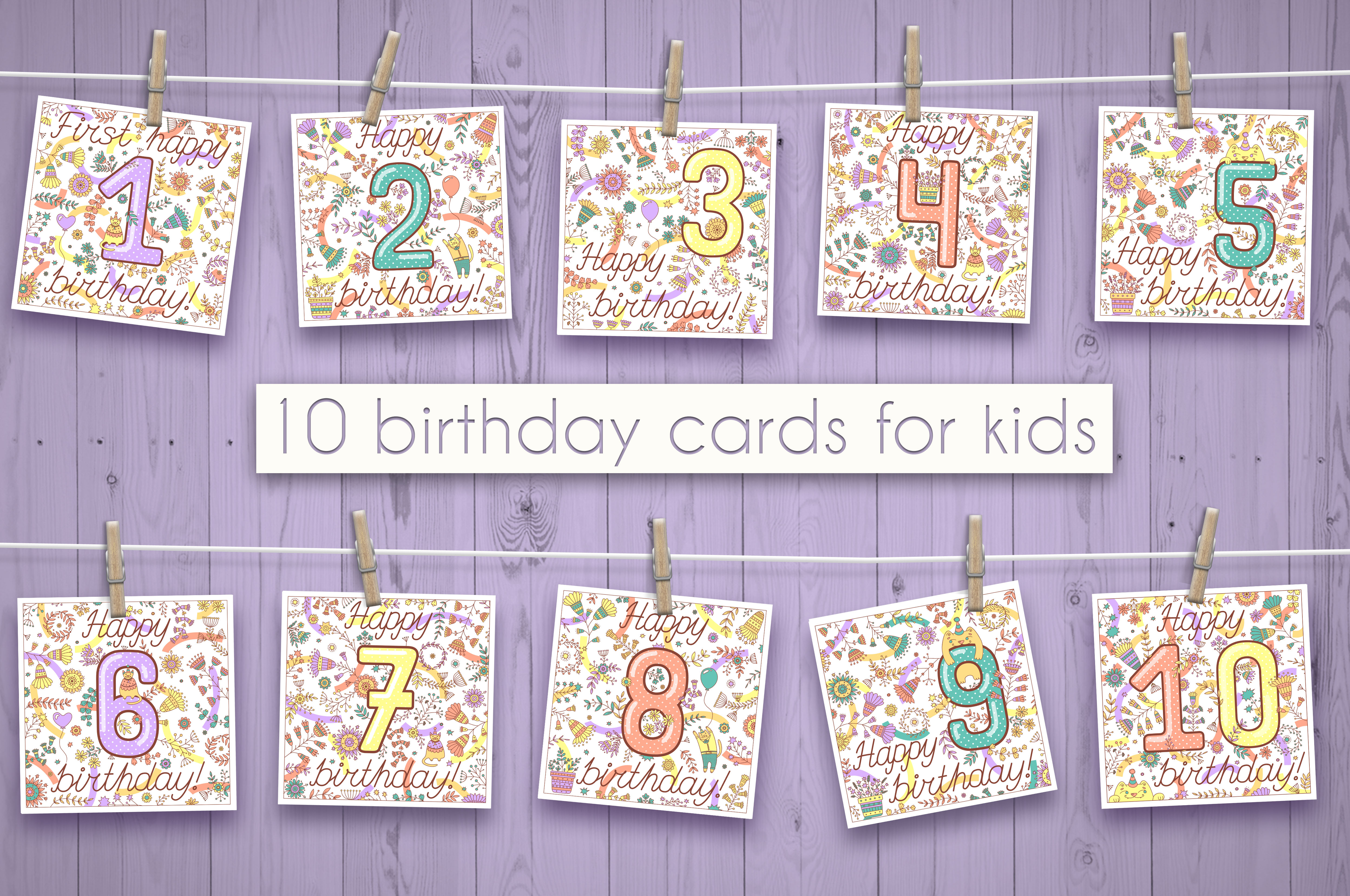 Birthday greeting cards collection example image 11