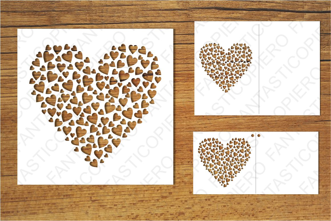 Heart with hearts SVG files for Silhoue | Design Bundles