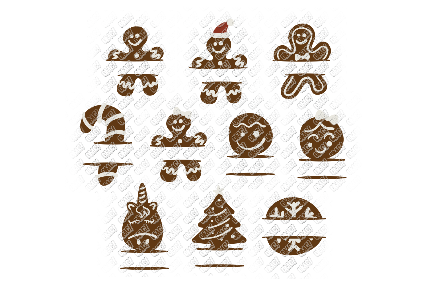 Christmas Cookies SVG Bundle in SVG, DXF, PNG, EPS, JPEG example image 6