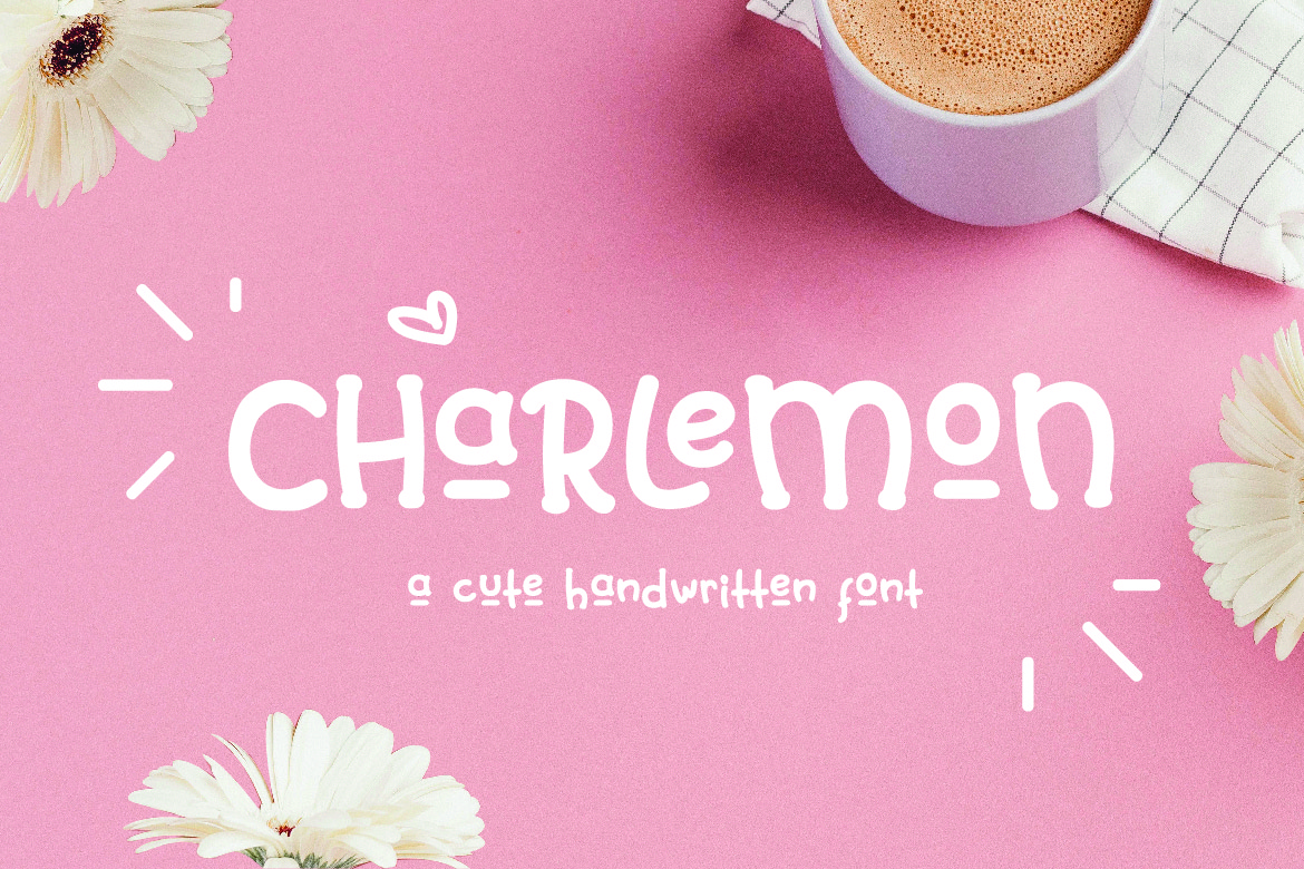 Charlemon Cute Font example image 2