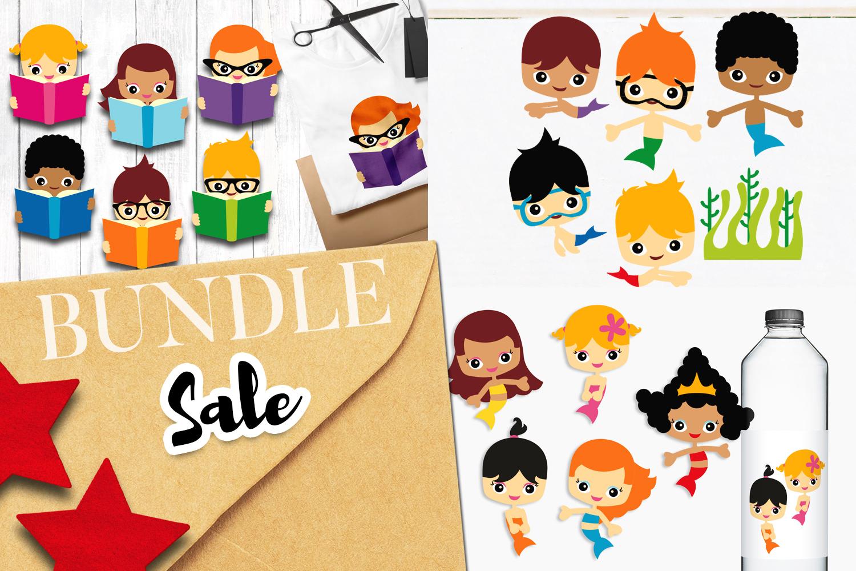 Mermaids Bundle - Kids illustrations example image 1